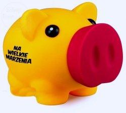 Skarbonka BIG Piggy żółta NA WIELKIE MARZENIA