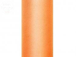 Tiul na szpulce  15cm x 9 m pomarańczowy