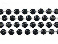 Girlanda kryształowa czarna długość 1m