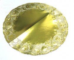 Serwetka ażurowa 36 cm GOLD - 4szt
