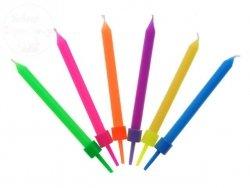 Świeczki z nadrukiem Kolorowe 6 szt