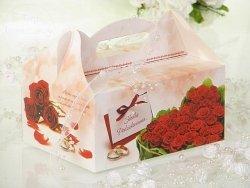 Pudełko na ciasto weselne Czerwone róże CS04