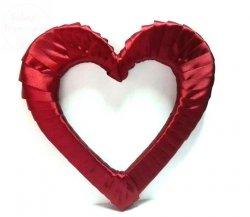 Serce styropianowe duże w kolorze bordowym
