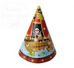 Czapeczki urodzinowe papierowe Skarb piratów1szt