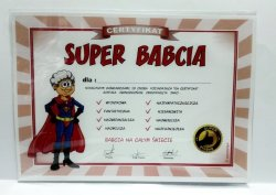Certyfikat, dyplom dla SUPER BABCI SUPER