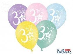Balony  pastelowe My 3rd bday mix kolor 1szt