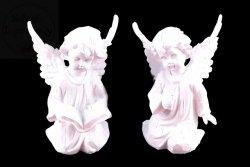 Aniołek gipsowy w kolorze białym 1szt
