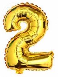 Balon foliowy złoty 40 cm - 2