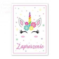 Zaproszenie an urodziny Jednorożec - 1szt