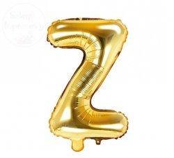 Balon foliowy Litera Z 35 cm złoty