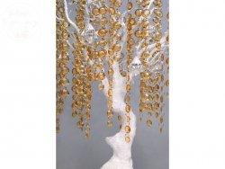 Girlanda kryształowa złota długość 1m