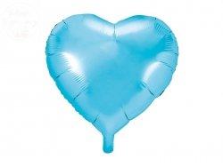 Balon foliowy serce 45 cm błękitny
