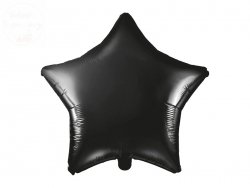 Balon foliowy Gwiazdka czarny 48 cm