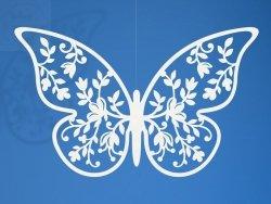 Dekoracja papierowa motyl 6,5x4 cm 10szt