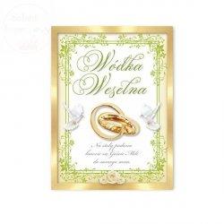 Etykiety samoprzylepne na wódkę weselną 25 szt