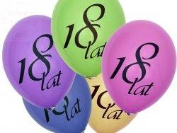 Balony 12 cali 18 lat pastel mix kolor