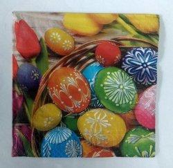 Serwetki Wielkanocne 33x33 20szt  Kolorowe Jajka