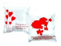 Poduszka a mała  Serce z Puzli  18 x 18 cm