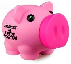 Skarbonka BIG Piggy różowa Kończę 18 lat i będę...