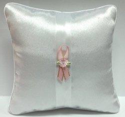 Butonierka rożowa z rózowym kwiatuszkiem 1szt
