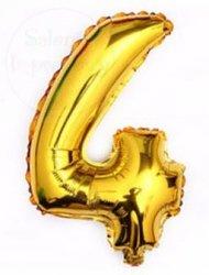 Balon foliowy złoty 45 cm - 4