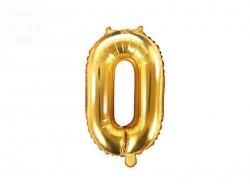 Balon foliowy Cyfra 0 35 cm złoty