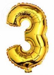 Balon foliowy złoty 45 cm - 3