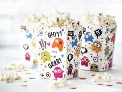 Pudełko na popcorn  Potworki 7,5x7,5x12,5cm