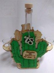 Karafka Kaktus + 6 kieliszków 18 urodziny