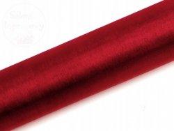 Organza 0,16x9m gładka czerwona