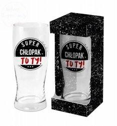Szklanka do Piwa 500 ml SUPER CHŁOPAK To TY!