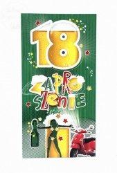 Zaproszenie na 18-te urodziny Piwko 1szt