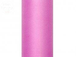 Tiul na szpulce  15cm x 9 m różowy