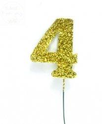 Ozdoba na druciku 4 złota - 1szt