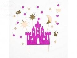 Topper na tort Princes - zamek 17 - 21,5 cm