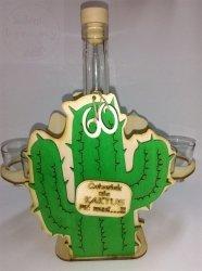 Karafka Kaktus + 6 kieliszków 60 urodziny