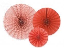 Rozety dekoracyjne czerwone 3 szt RPK1-007