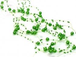 Girlanda perłowa kolor zielony 1,3m 5szt GP17