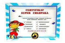Certyfikat Super Chłopak   Dyskorolka