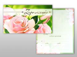 Zaproszenie okolicznościowe Róże - 1szt