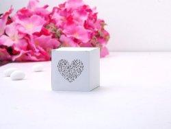 Pudełeczka z Ornamentowym  SERDUSZKIEM   10 szt