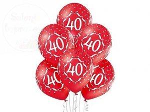 Balony na 40-te urodziny  12 cali  Czerwone