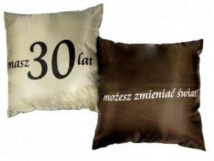 Poduszka malowana satynowa 30 lat