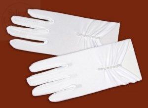 Rękawiczki komunijne z koralikami- matowe 1szt