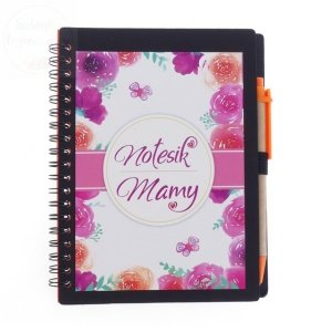 Notatnik kulinarny dla Mamy Kwiatowe z długopisem