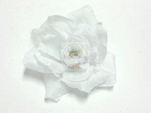 Kwiat sztuczny róża biała -1szt