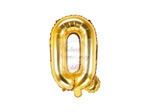 Balon foliowy Litera Q 35 cm złoty