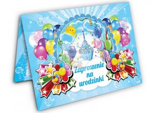Zaproszenie na urodzinki z niebieską   BABECZKĄ