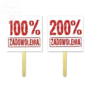 Tabliczki do fotobudek 100%/200% Zadowolenia