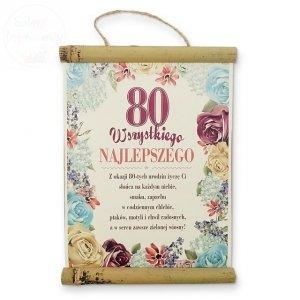Dyplom Wszytskiego najlepszego 80 urodziny